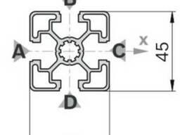 Алюминиевый станочный профиль 45x45