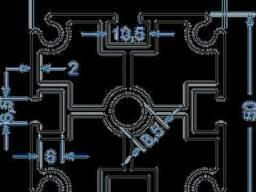 Алюминиевый станочный профиль 50x50SY 60310 б. п.