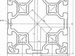 Алюминиевый станочный профиль 80х80 анодированный АД31Т5