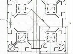 Алюминиевый станочный профиль 80x80 мм АД31 Т5