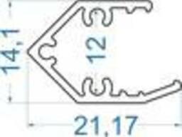 Алюминиевый светодиодный профиль 21, 17x14, 1