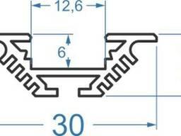 Алюминиевый светодиодный профиль 30х10, 5