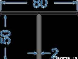 Алюминиевый тавр 80x50x2БПО-3988 Анод