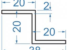 Алюминиевый Z-профиль 20x20x20x2 анодированный