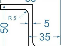 Алюмінієвий Z-профіль 50x35x5, купить, цена