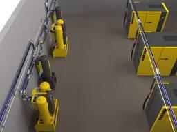 Монтаж аллюминиевых трубопроводов для инертных газов.