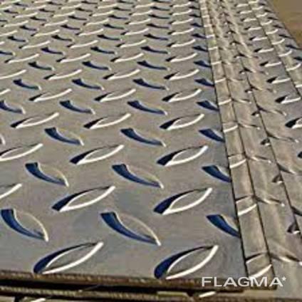 Нержавеющий лист рифленый, AISI 304(Квинтет), 3х1250х2500 мм