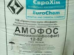 Аммофос 12:52 Состав: 12% - Азот (N), 52% - Фосфор (Р2О5).