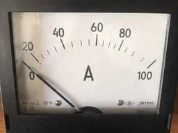 Амперметр переменного тока щитовой Э365-1 100А 100/5