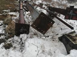 Ангар каркас 18*36*12 киевский регион. Разобранный 16 грн кг.