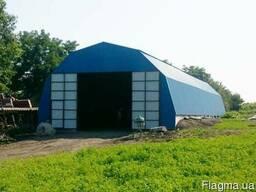 Ангар-зернохранилище 8х30, 10х33, 12х36, 15х39 и 18х45