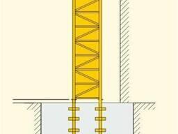 Анкерное крепление башенного крана Liebherr, анкер Liebherr