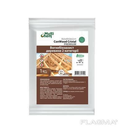 Антипирен Антисептик Огнебиозащита для древисины ConWood Cristal Premium. Концентрат. .. .