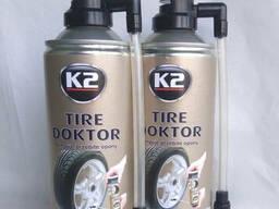 Антипрокол, аварийный герметик K-2 TIRE Doktor 400мл