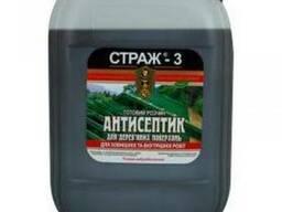"""Антисептик для дерева готовый раствор (зеленый)""""СТРАЖ-3""""10 л"""