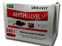 Антищур брикет 14г (1шт) от крыс и мышей, оригинал