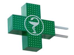 Аптечные кресты акриловые, светодиодные. Реклама. Вывески.