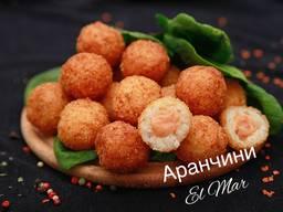 Аранчини (рисовые шарики) Лосось, мидия, креветка, шоколад Ш\З