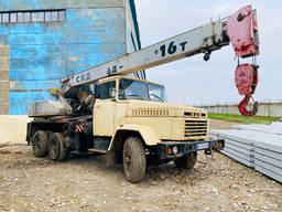 Аренда автокрана 16 тонн, услуги автокрана Новомосковск, Днепр