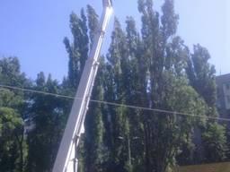 Аренда автовышек 14-42м , высотные работы , спил аварийных деревьев