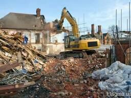 Демонтаж, Снос сооружений, разборка построек, зданий, домов