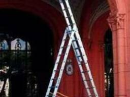 Аренда лестницы универсальные трёхсекционные прокат лестници