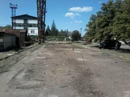 Аренда складской площадки 500 кв. м, козловой кран 50 тонн