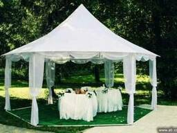 Аренда свадебных шатров белых на свадьбу