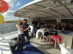 Аренда яхты | Прогулки на яхте по Днепру в Киеве - фото 3