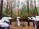 Аренда зонтика трость белого цвета - фото 1