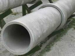 Асбестоцементные трубы 400мм, напорные, 5м с муфт. и кольцам