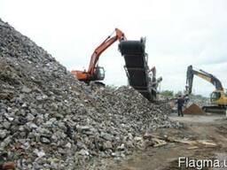Щебень вторичный от переработки бетона