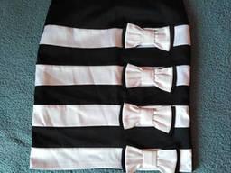 Атласная нарядная юбка