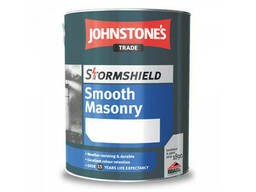 "Атмосферостойкая фасадная краска StormshieldSmooth Masonry Finish ""Johnstone'S"" 5 л"