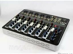 Аудио микшер Mixer BT-7000 4ch (микшерный пульт, аудиомикшер