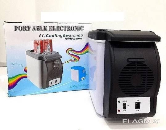 Автохолодильник от прикуривателя с функцией нагрева Portable Electronic 12V, 6 л