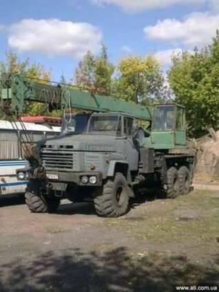 Автокран на базе полноприводного Краз 260 КС 3575А, 1993г.в.