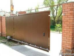 Ворота въездные, гаражные, филенчатые, кованые