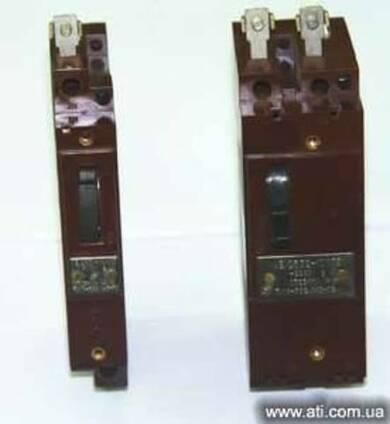 Автоматические выключатели АЕ 2531, 2532, 2534, 2535