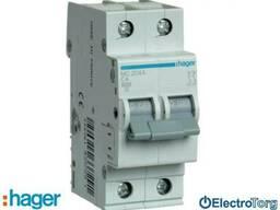 Автоматический выключатель 2p 6kA C-4A 2M Hager (Хагер)