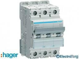 Автоматический выключатель 3p 10kA D-32A 3M Hager (Хагер) - фото 1