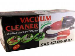 Автомобильный пылесос с фонарем Vacuum Cleaner Красный (mt-283)