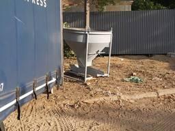 Бадья конусная Рюмка Тюфля 1,0 куб. Бункер для бетона