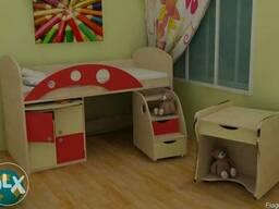 Багатофункційне ліжко для малюків - фото 3