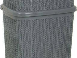 Бак для мусора Ucsan Plastik M-1023-Dark-Gray 10 л темно-серый