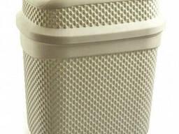 Бак для мусора Ucsan Plastik M-131-Cream 4 л кремовый