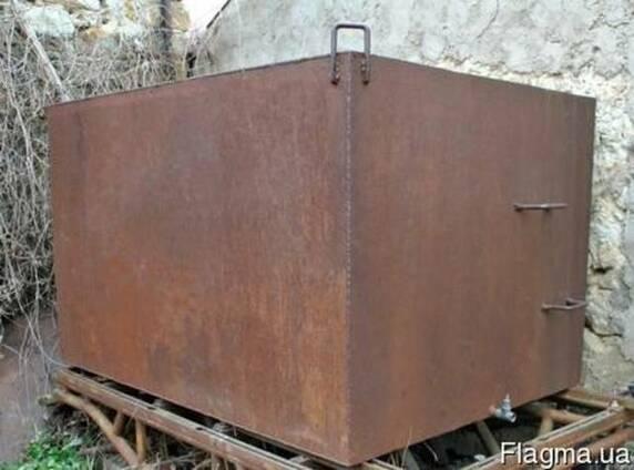 Бак для воды металлический трёхкубовый