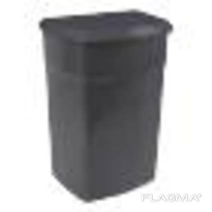 Бак мусорный -90л, с крышкой, пластик, Киев Украина, Красный