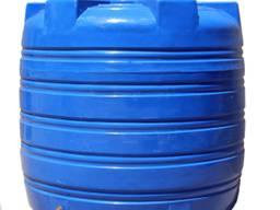 Пластиковый бак вертикальный накопительный 500 л низкий