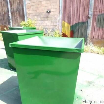 Баки мусорные 0,75 м. куб. с доставкой по Украине